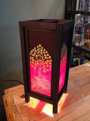 Thai Vintage Handmade ASIAN Oriental Bamboo Trees Table Lamp Night Light Lighting Shade Floor Desk Outdoor Touch Room Modern Vintage Handmade Asian Oriental Wood Bedside Gift Art Home Garden Christmas