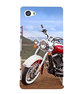 Amazing Bike 3D Hard Polycarbonate Designer Back Case Cover for Sony Xperia Z5 Compact :: Sony Xperia Z5 Mini