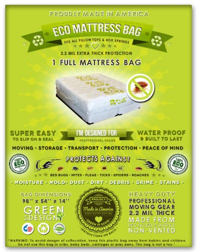 4 Full Size Mattress Bags. Fits All Pillow Tops And Box Springs. Ideal For Moving, Storage And Protecting Your Mattress. Heavy Duty Professional Grade. Easy To Slip On And Seal. Sleep With Peace Of Mind And Don'T Let The Bed Bugs Bite. Protect Your Invest front-198192