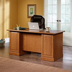 Sauder Orchard Hills Executive Desk Carolina Oak
