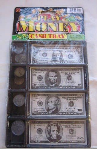 Jaru-3128-Play-Money-Cash-Tray-20-Coins-and-20-Bills-Kids-Pretend-Toy