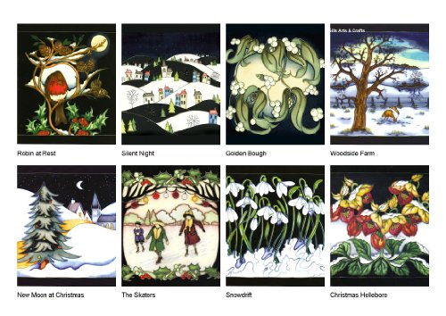 Moorcroft Set of 8 Christmas cards