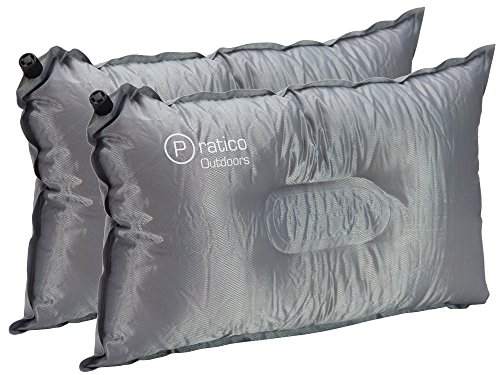 Pillow-To-Go Self Inflating Pillow - The Perfect Inflatable Travel Pillow or Camping Pillow - 2-Pack