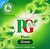 PG tips Green Tea 20s Pyramid Teabags 28g (Pack of 4, Total 80 Tea Bags)