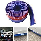 言の葉 ユニバーサルスポイラーリップ2.5メートルカーフロントリップ - ゼネラルモーターズバンパー、防水100%(ブルー)