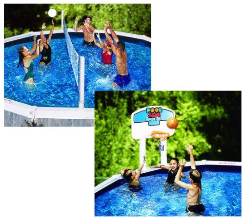 Swimline 9191 Pool Jam Combo Above Ground Sporting Goods Team Sports Basketball Basketball Hoop