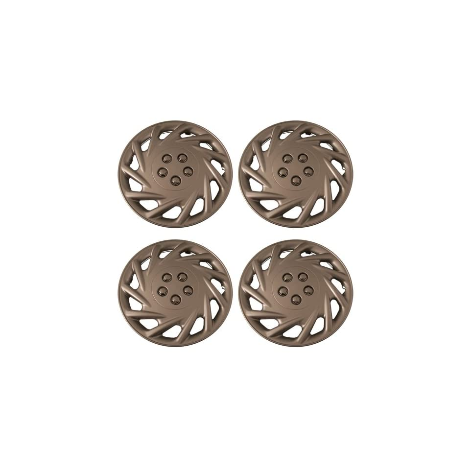 Set of 4 Silver 14 Inch Aftermarket Replacement Hubcaps with Metal Clip Retention System   Part Number IWC118/14S