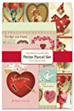 Cavallini Papers Parcel Set Victorian Valentines Gift Bags, Petite, Set of 12