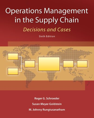 Operations Management in the Supply Chain: Decisions