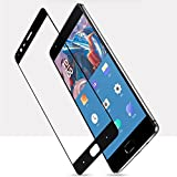 #5: Oneplus 3 Full Coverage Tempered Glass Screen Protector 0.2.5mm Clear 3D For ONE PLUS 3 [Edge to Edge] Bubble Free (black)