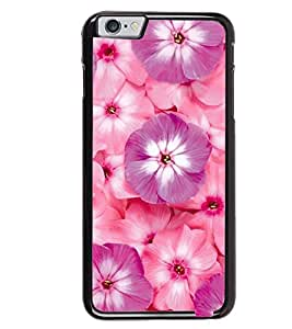 Printvisa Pink And Purple Floral Pattern Back Case Cover for Apple iPhone 6S
