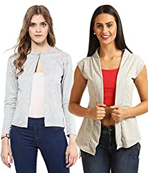 Womens Cotton Shrugs(Pack of 2)
