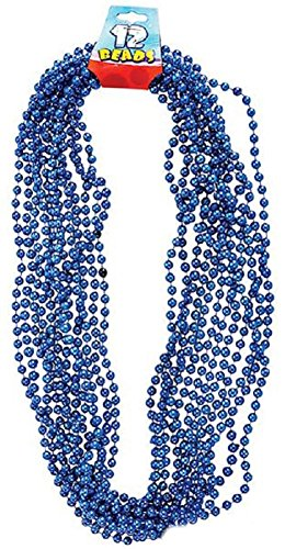 Rhode Island Novelty Pearl Necklaces (12-Pack)-Blue