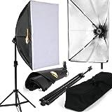 Profi Studioleuchte Fotostudio Set inkl. Softbox, Stativ und Tragetasche