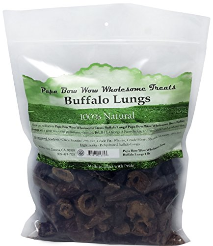 Papa Bow Wow Buffalo Lung Dog Treats Lung, 1 lb (Dehydrated Beef Lung compare prices)