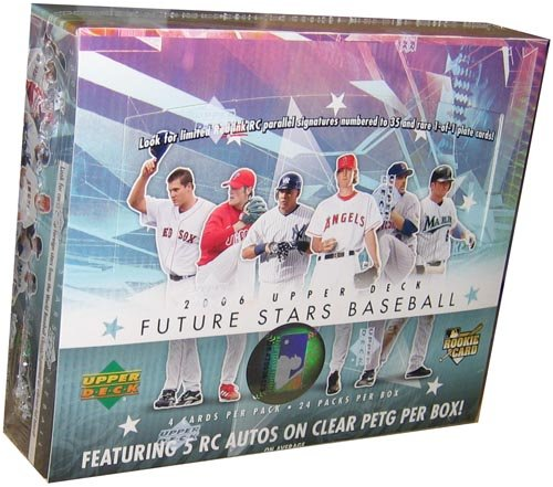 2006 Upper Deck Future Stars Baseball Hobby Box (24 packs/box, average of 5 autographs per box plus cards of top rookies & prospects)