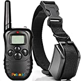 Dog Training Collar for Pet and Dog With Remote by Pethin™ - 330 Yards E-collar - Rechargeable and Waterproof - Strong 100 Level Electronic Vibration + 100 Level Static Shock Control with Safe Beep - for Medium or Large Pet & Dogs - Get Your Best Dog Trainer Device Now!