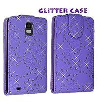 Cellularvilla (Trademark) Case for Samsung Infuse 4g I997 Purple Glitter Diamond Leather Flip Open Case Cover Pouch