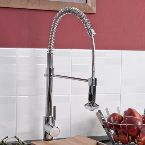 HECTOR CHROME KITCHEN SINK PULL OUT MIXER TAP