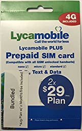 Lycamobile $29 2 months free preloaded sim