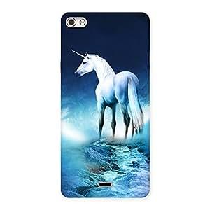 Unicorn Horse Print Back Case Cover for Micromax Canvas Silver 5