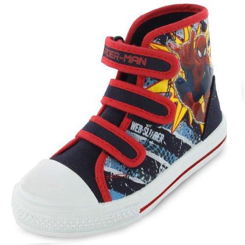 Spiderman Superhuman Hi Top Canvas Childrens Trainers