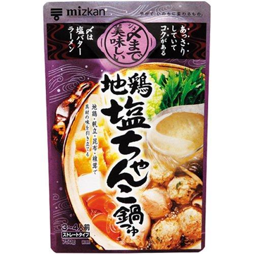 ミツカン 〆まで美味しい地鶏塩ちゃんこ鍋つゆ ストレート 750g ×12個