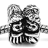 Charm Buddy Silver Plated Bride Groom Wedding Couple Man Wife Charm Bead Fits Pandora Troll Silver Charm Bracelets Chains