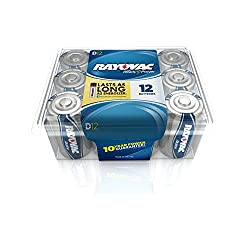 RAYOVAC 813-12PPF Alkaline Batteries Reclosable Pro Pack (D, 12 pk)