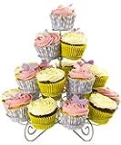 Andrew James - 4-Stöckiger Premium Cupcake + Törtchen + Petit Fours Stand - Für Bis Zu 23 Cupcakes