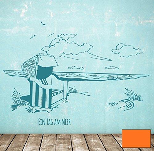 Graz-design-sticker-mural-motif-cabine-de-plage-style-mer-journe--la-mer-m1496-choix-de-couleur