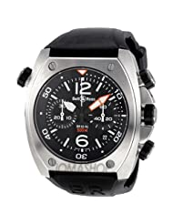 Bell and Ross Marine Automatic Chronograph Black Rubber Mens Watch BR02-CHR-BL-ST