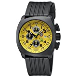 Luminox Land Tony Kanaan Chronograph Yellow Dial Rubber Strap Men's Watch 1105.S (Color: yellow)