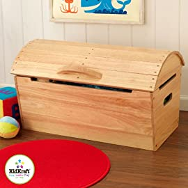 KidKraft Round Top Storage Chest Natural 14541