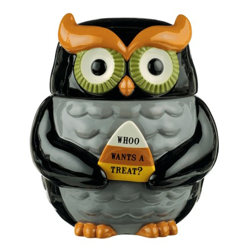Grasslands Road Halloween Owl Cookie Jar