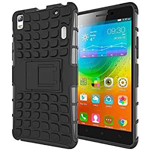 Red Qube Hybrid Shockproof Tough Grip Back Case For Lenovo K3 Note