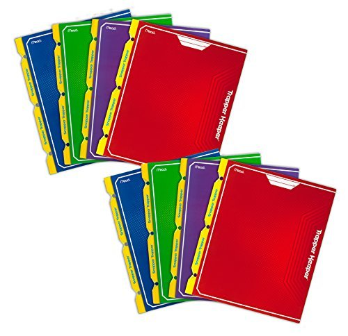 mead-trapper-keeper-snapper-trapper-2-pocket-portfolio-with-prongs-1188-x-12-x-12-inches-assorted-pa