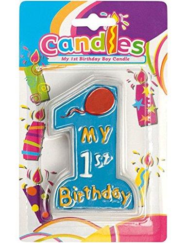CANDELA CERA 1 ANNO BIRTHDAY BOY CANDELINA TORTA 1 ANNO BAMBINO CAKE DESIGN