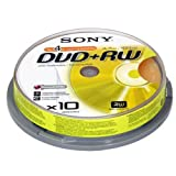 Sony DPW 120A - 10 x DVD+RW - 4.7 GB 1x - 4x - spindle - storage mediaby Sony