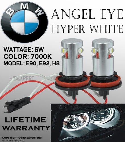 Bmw Angel Eye E92 H8 High Power Led Bulbs 7000K White Jdm Dot