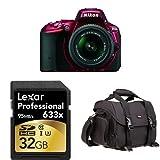 Nikon-D5500-DX-format-DSLR-w--18-55mm-Lens-Red-+-Accessories