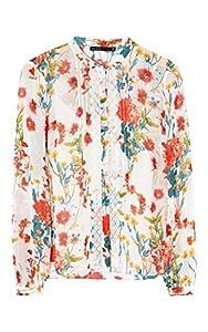 Karen Millen FLORAL-PRINT BLOUSE Size 12 $225.00 AT vintagedancer.com