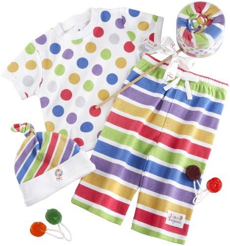 """Baby Aspen """"Lollipop Loungewear"""" 3 Piece Gift Set"""