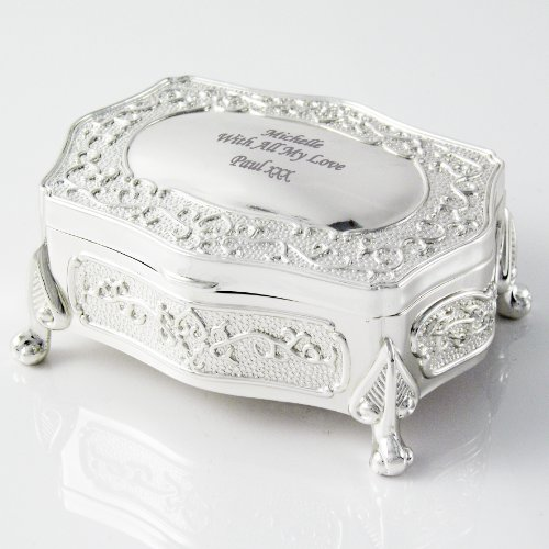 Laser Engraved Antique Trinket Box - Personalised