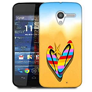 Snoogg Abstract Summer Background Designer Protective Phone Back Case Cover For Moto X / Motorola X
