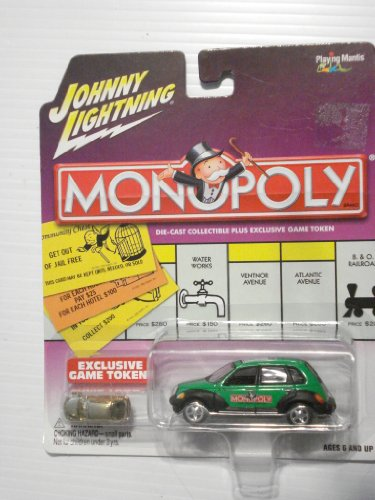 2003 Johnny Lightning Monopoly North Carolina PT Cruiser With Gold Colored Token
