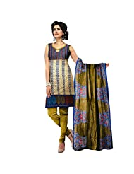 Siddhi Unstitched Cotton Printed Salwar Suit Dupatta Material ( 2804 )