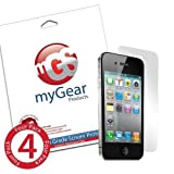 myGear Products ANTI-FINGERPRINT RashGuard Screen Protectors for iPhone 4 / 4S (4 Pack) ~ myGear Products