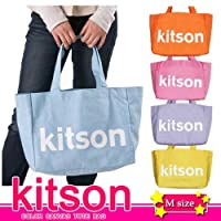 KITSON COLOR CANVAS TOTE BAG★5カラーキャンバストートバッグ★ロゴトートバッグ★キットソンL.A (Mサイズ)