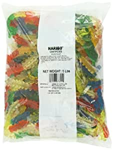 Haribo Gummi Candy, Centipedes, 5-Pound Bag
